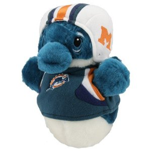 NFL, Miami Dolphins, fatherhood, dads, toddlers, dolls, stuffed animals