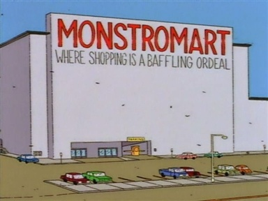 Simpsons, cartoons, shopping, grocery store, TV, Homer, Barney, FOX, toddlers