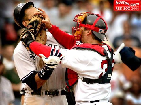 sports, baseball, varitek, a-rod, yankees, red sox, rivalry, parenting, dads, fatherhood, family, pop culture, Boston, New York